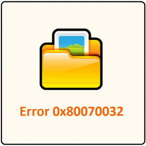 Как исправить код ошибки истории файлов 0 × 80070032