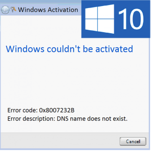 Как исправить ошибку 0x8007232B при активации Windows 10?