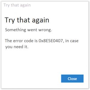 Как исправить код ошибки Microsoft Store 0x8E5E0407