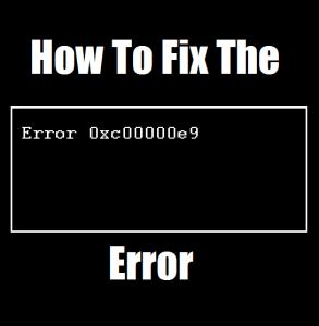 Как исправить ошибку 0xc00000e9 в состоянии загрузки компьютера