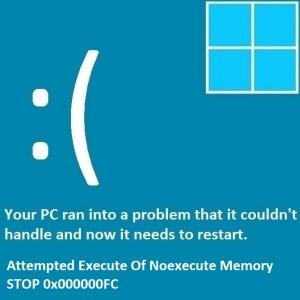 Как исправить ошибку «Попытка выполнения из памяти Noexecute»