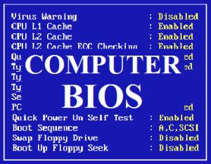 Устранение неполадок в BIOS