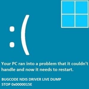 Как исправить ошибку Bugcode_NDIS_Driver_Live_Dump