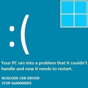 Как исправить ошибку BUGCODE USB DRIVER