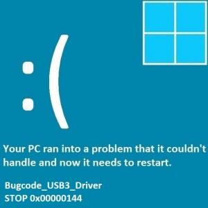 Как исправить ошибку Bugcode_USB3_Driver