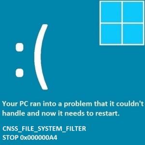 Как исправить ошибку CNSS_File_System_Filter