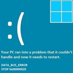 Как исправить DATA_BUS_ERROR