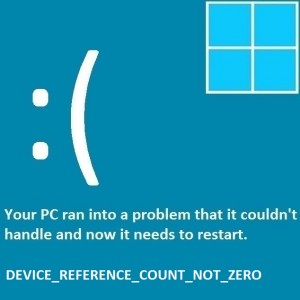 Как исправить ошибку Device_Reference_Count_Not_Zero