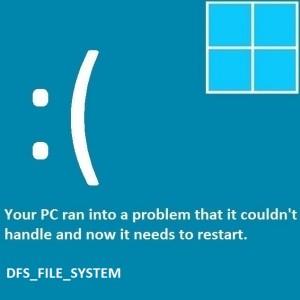 Как исправить ошибку DFS_FILE_SYSTEM