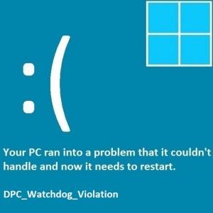 Как исправить ошибку DPC_Watchdog_Violation