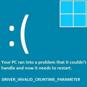 Как исправить ошибку Driver_Invalid_CRuntime_Parameter