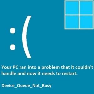 Как исправить ошибку Device_Queue_Not_Busy