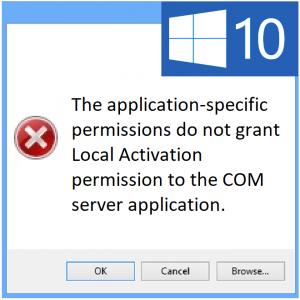 Как исправить ошибку DCOM 10016 в Windows 10