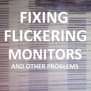 Как исправить мерцание монитора и другие проблемы с дисплеем?