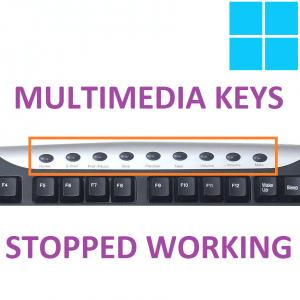 Клавиши мультимедиа перестали работать на клавиатуре моего компьютера