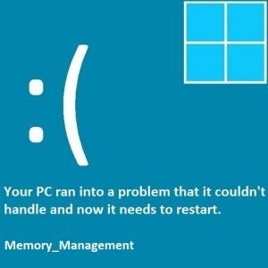 Как исправить ошибку Windows 8.1 BSOD Memory_Management