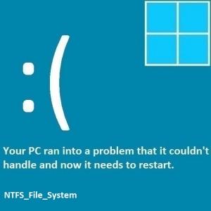 Как исправить ошибку NTFS_File_System