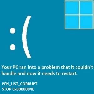 Как исправить ошибку PFN_List_Corrupt