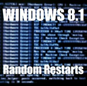 Как исправить случайные перезагрузки Windows 8.1