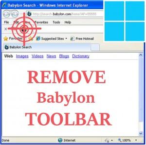 Как удалить панель инструментов Babylon Search из Windows