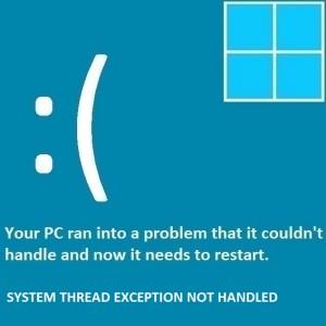 Как исправить ошибку System_Thread_Exception_Not_Handled