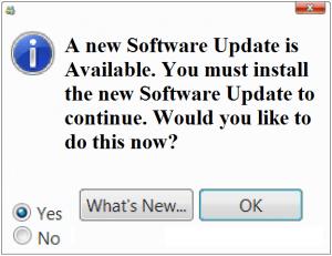 Устранение неполадок при обновлении программного обеспечения