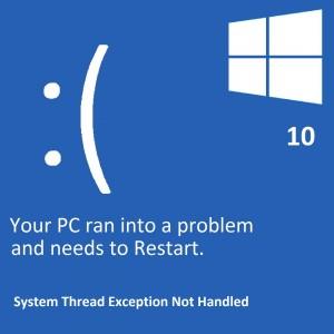 """Как исправить ошибку """"Необработанное исключение системного потока"""" в Windows 10?"""