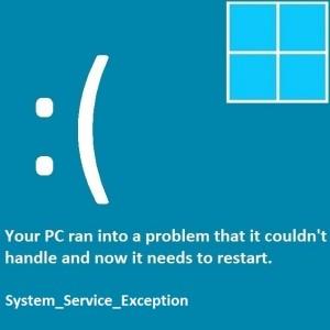 Как исправить ошибки System_Service_Exception синего экрана в Windows 8