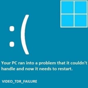 Как исправить ошибку Video_TDR_Failure