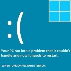 Как исправить смерть WHEA_Uncorrectable_Error