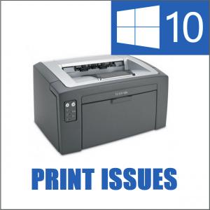Не могу печатать с момента установки Windows 10