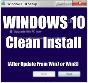 Как выполнить чистую установку Windows 10 из Windows 7 или Windows 8?