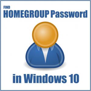 Найти пароль домашней группы в Windows 10