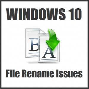 Что делать, если не удается переименовать файл или папку в Windows 10?