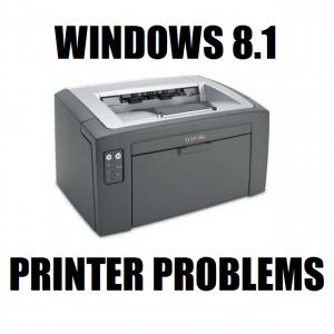 Устранение неполадок принтера в Windows 8