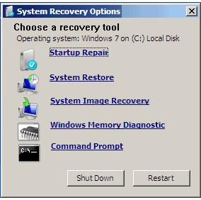 Как использовать Windows System Recovery