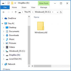 Не удается удалить папку «Windows.old» в Windows 10