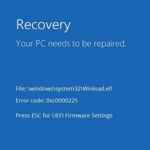 Код ошибки Winload.efi 0xc0000001 при перезагрузке компьютера