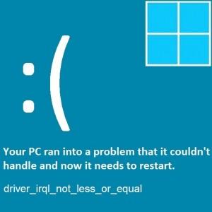 Как исправить ошибку driver_irql_not_less_or_equal в Windows 8.1