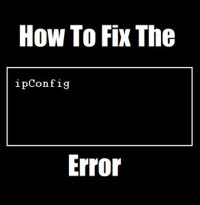 Как исправить ошибку iPconfig.exe
