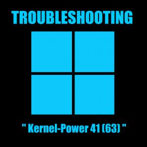 Устранение неполадок, связанных с ошибкой Kernel-Power 41 (63)