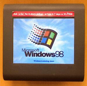 Запуск Microsoft Windows 98 на компьютере
