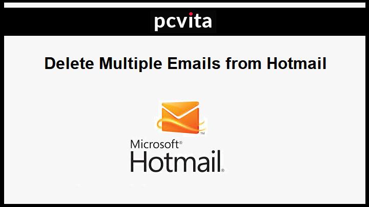 Удалить несколько писем из Hotmail