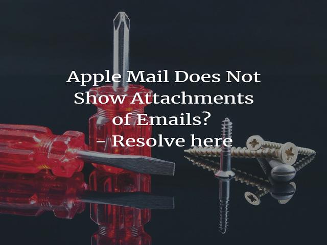 Apple Mail не показывает вложения писем?  Решите проблему здесь