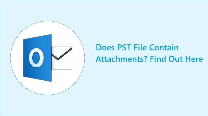 Содержит ли файл PST вложения?