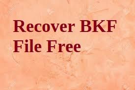 Восстановить файл BKF бесплатно – Восстановить файл резервной копии Windows