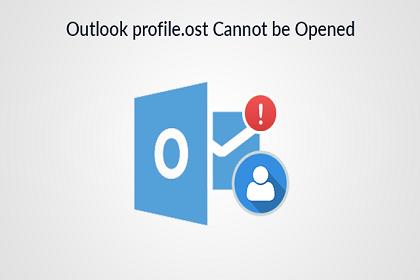Outlook Profile.ost по умолчанию не может быть открыт / доступен, если он используется