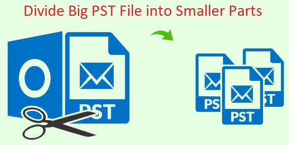 Как разделить большой файл PST на более мелкие части
