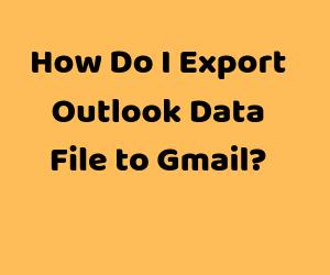 Экспорт файла данных Outlook в учетную запись Gmail без сбоев
