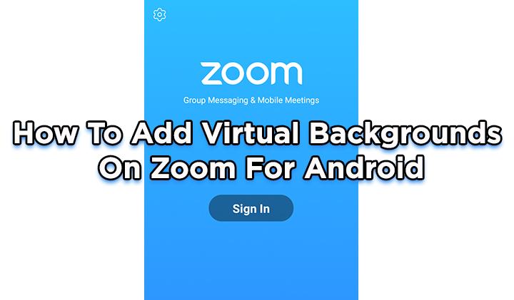 Как добавить виртуальный фон в Zoom для Android
